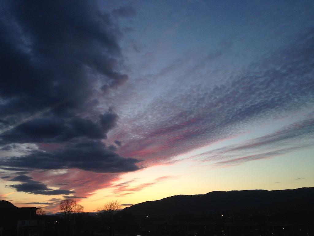 Solnedgang,Drammen,iPhone bilder