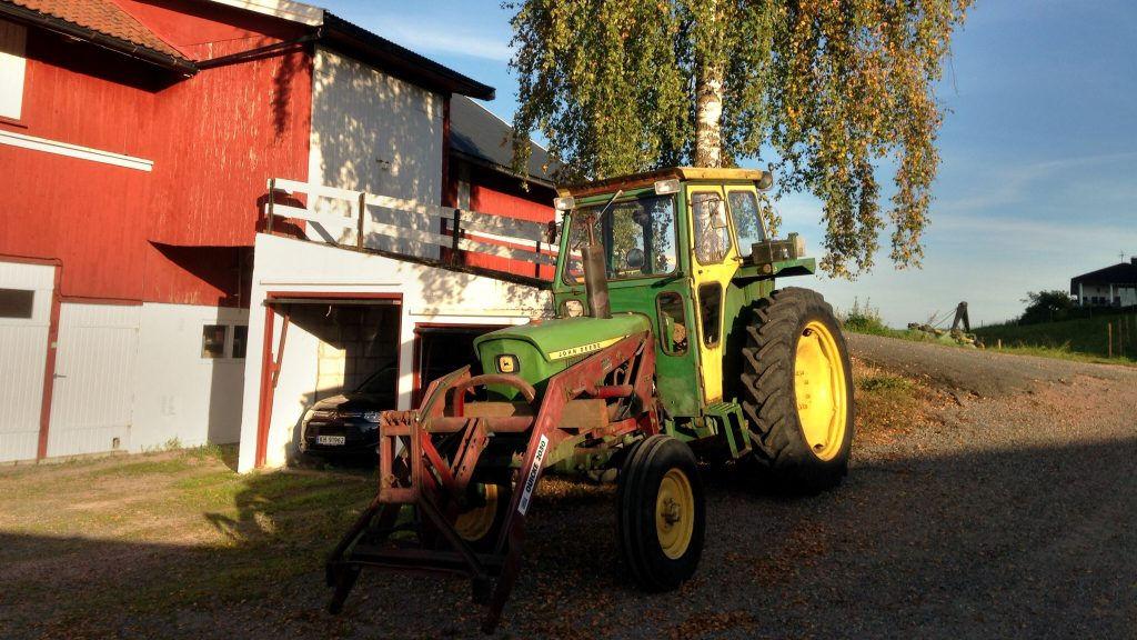 Traktor i solnedgang...