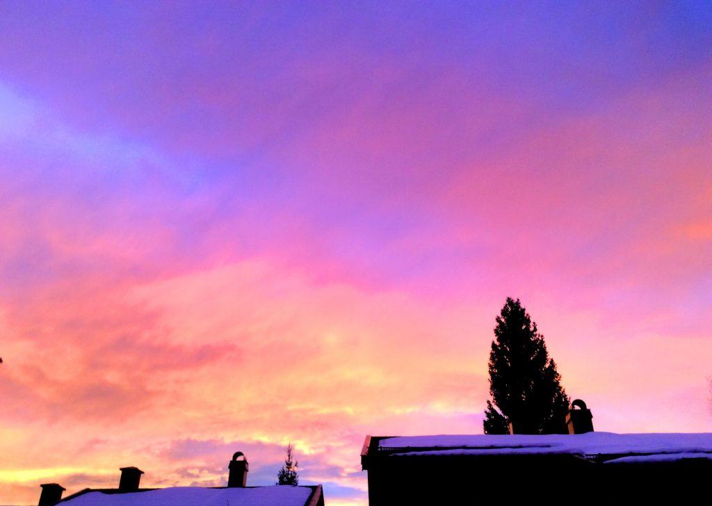 Nydelig solnedgang, Konnerud,Drammen