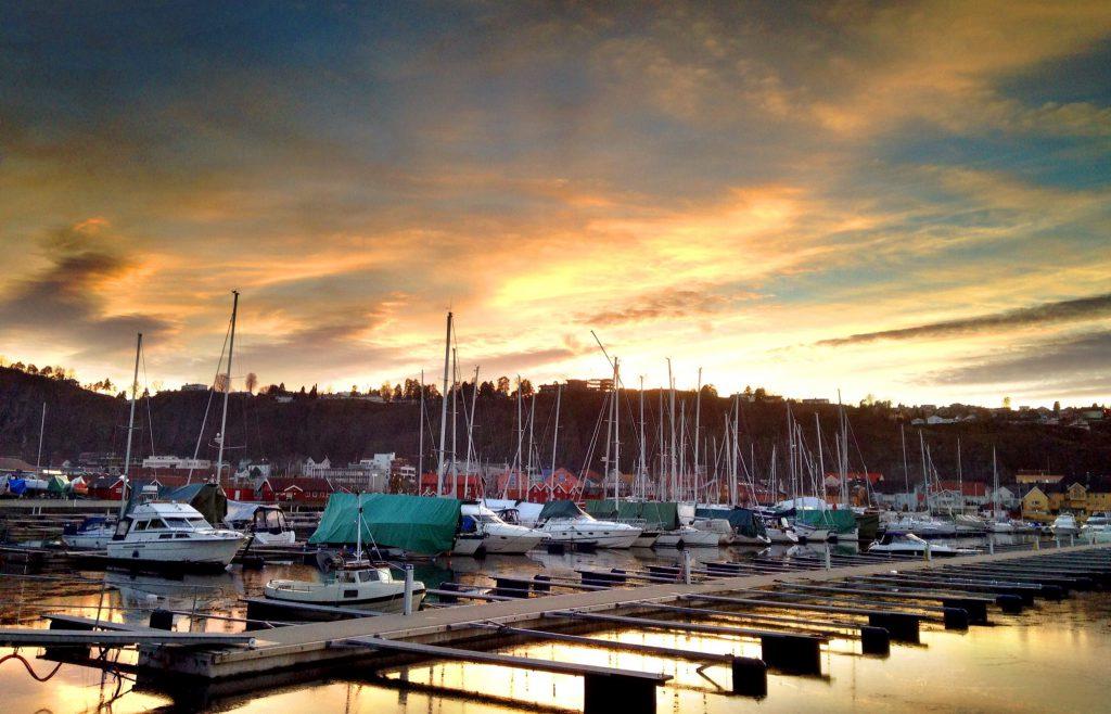 Holmestrand,Vestfold,Solnedgang