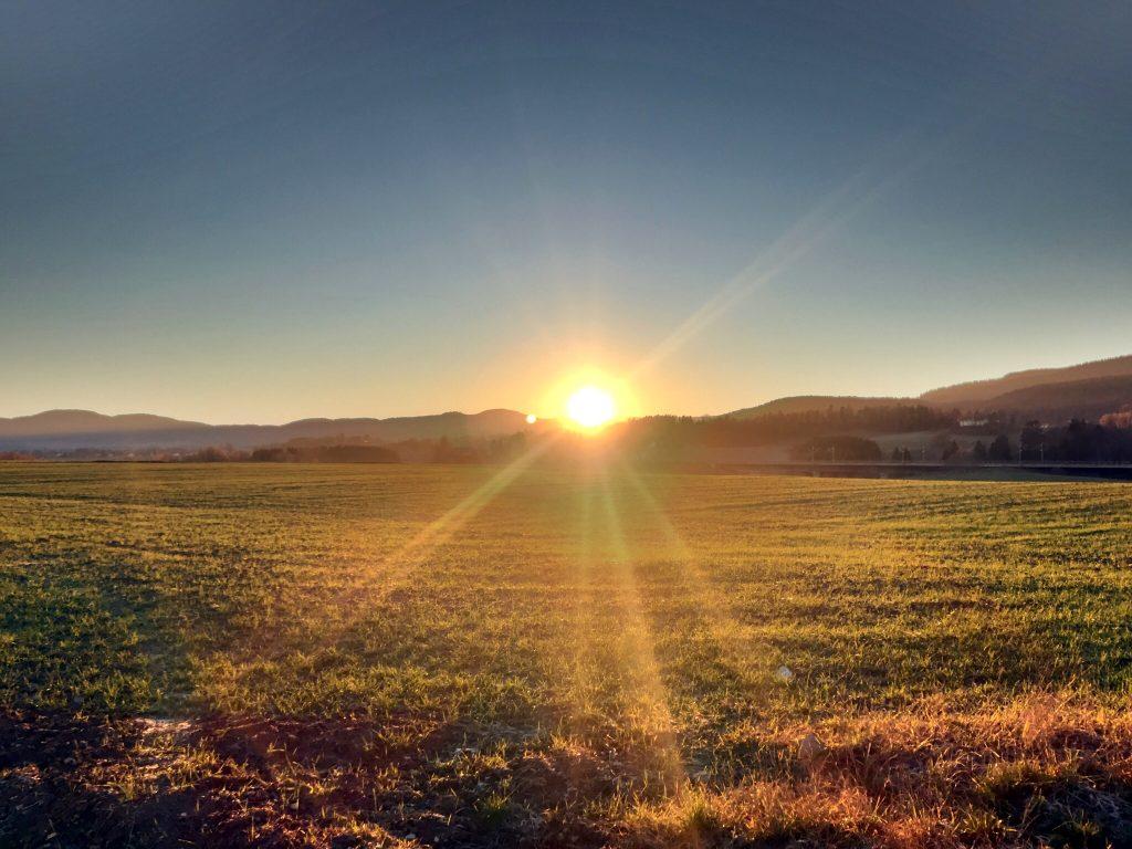 Solnedgang på Konnerud